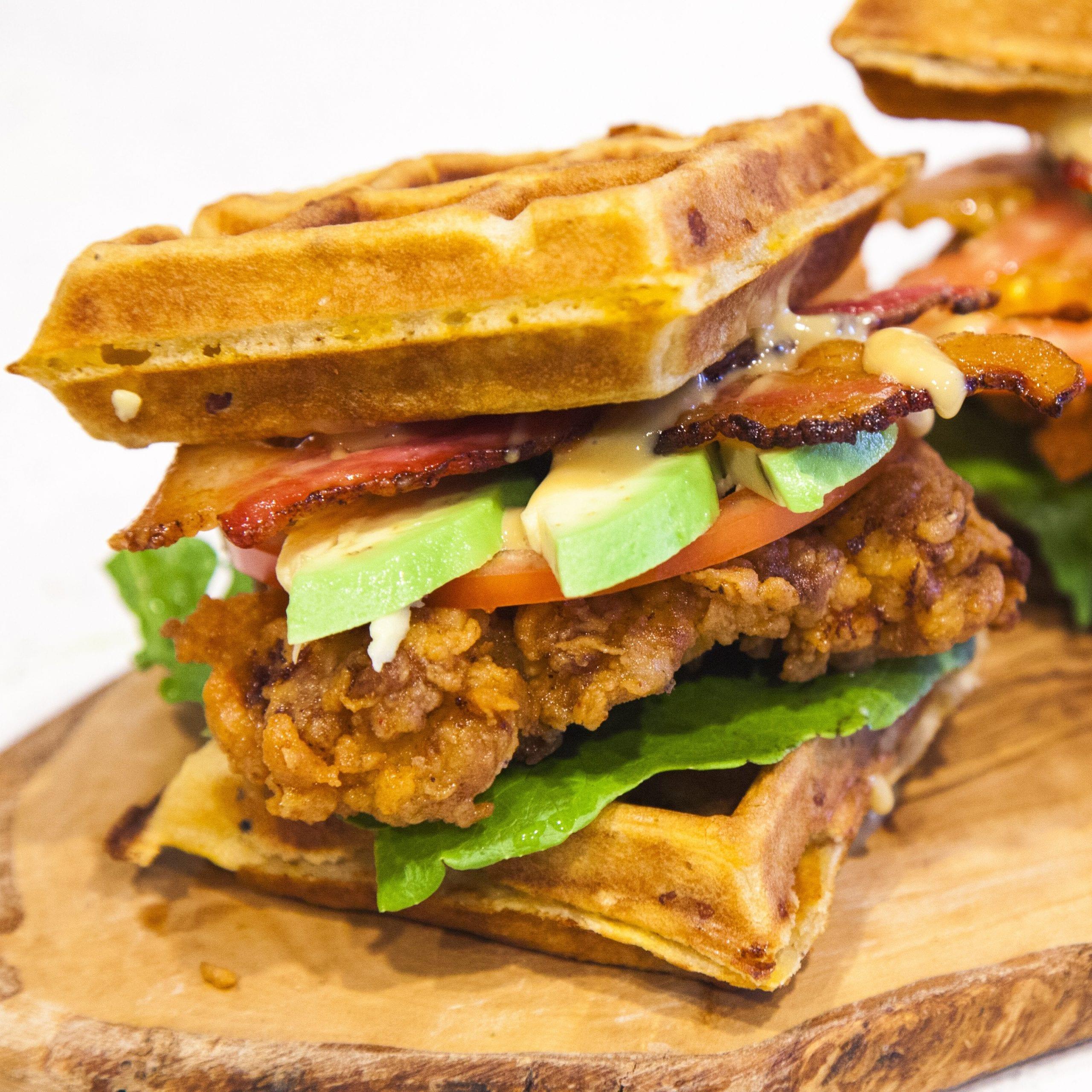 Crispy Chicken and Waffle Sandwich Recipe