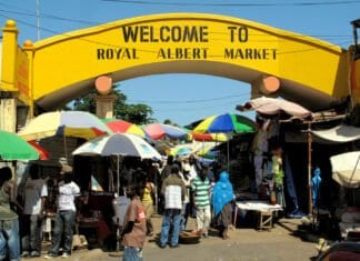 Royal Albert Market in Banjul