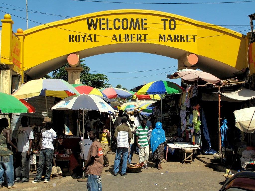 Royal Albert Market in Banjul