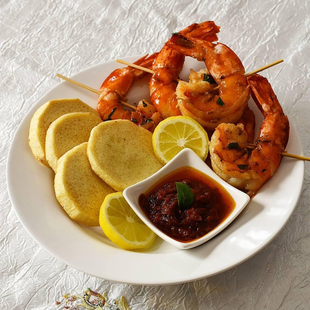 skewered prawns recipe