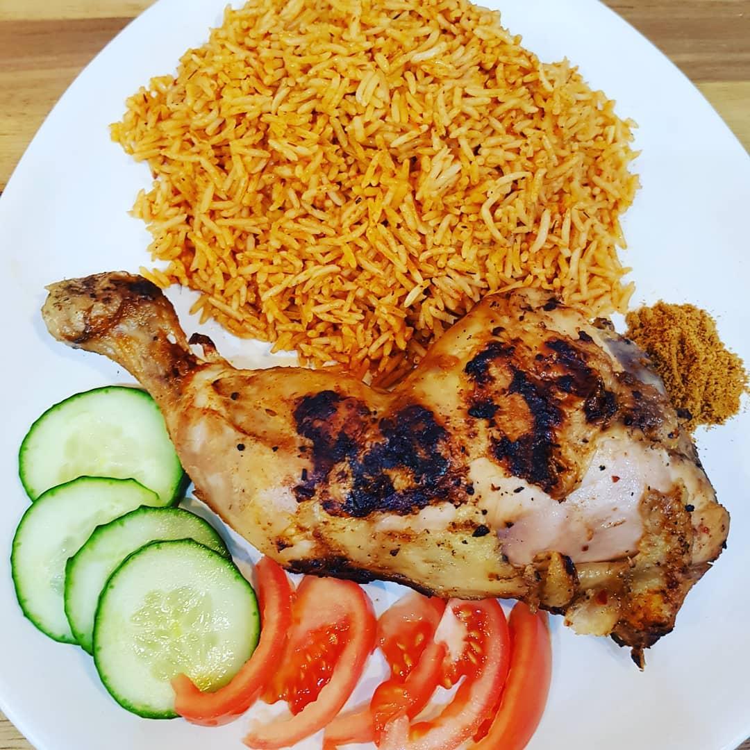 jollof rice and chicken suya recipe