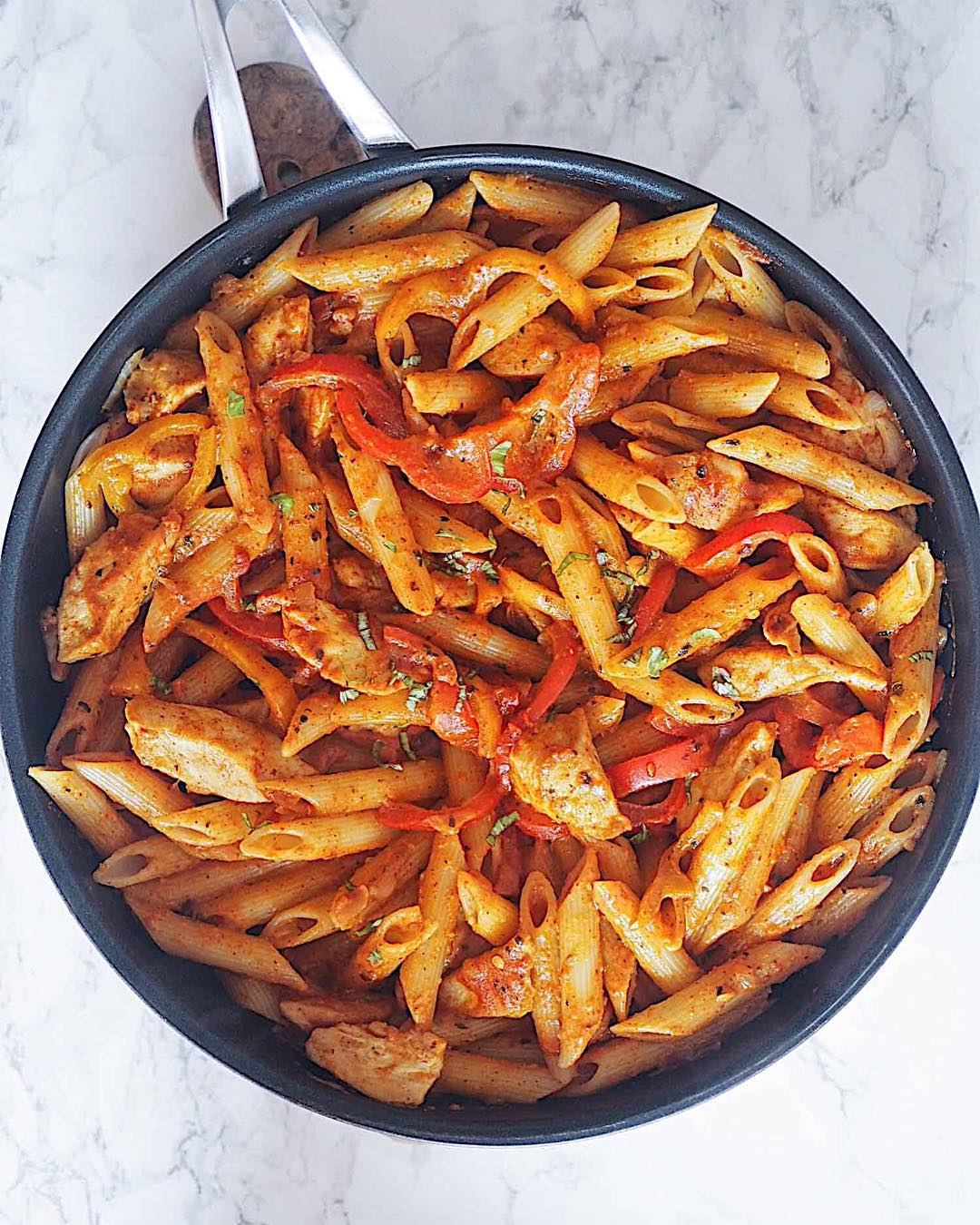 fajita pastastep-by-step recipe