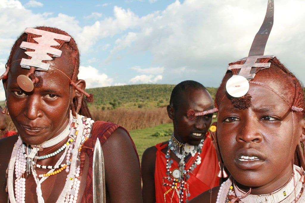 young maasai women