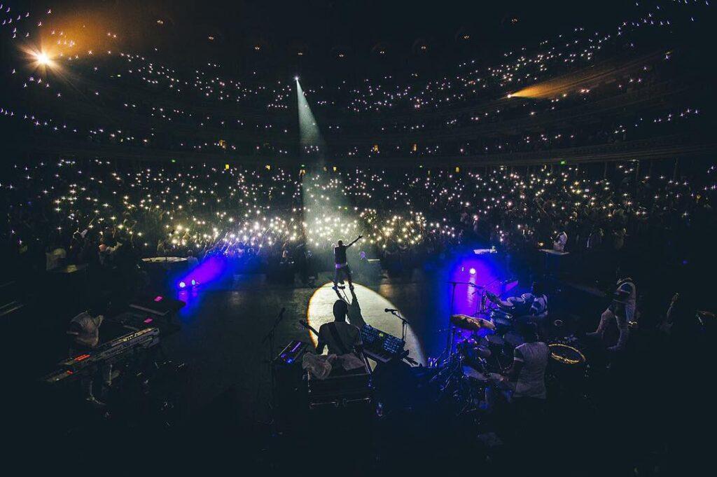 Starboy Wizkid performing at Royal Albert Hall London