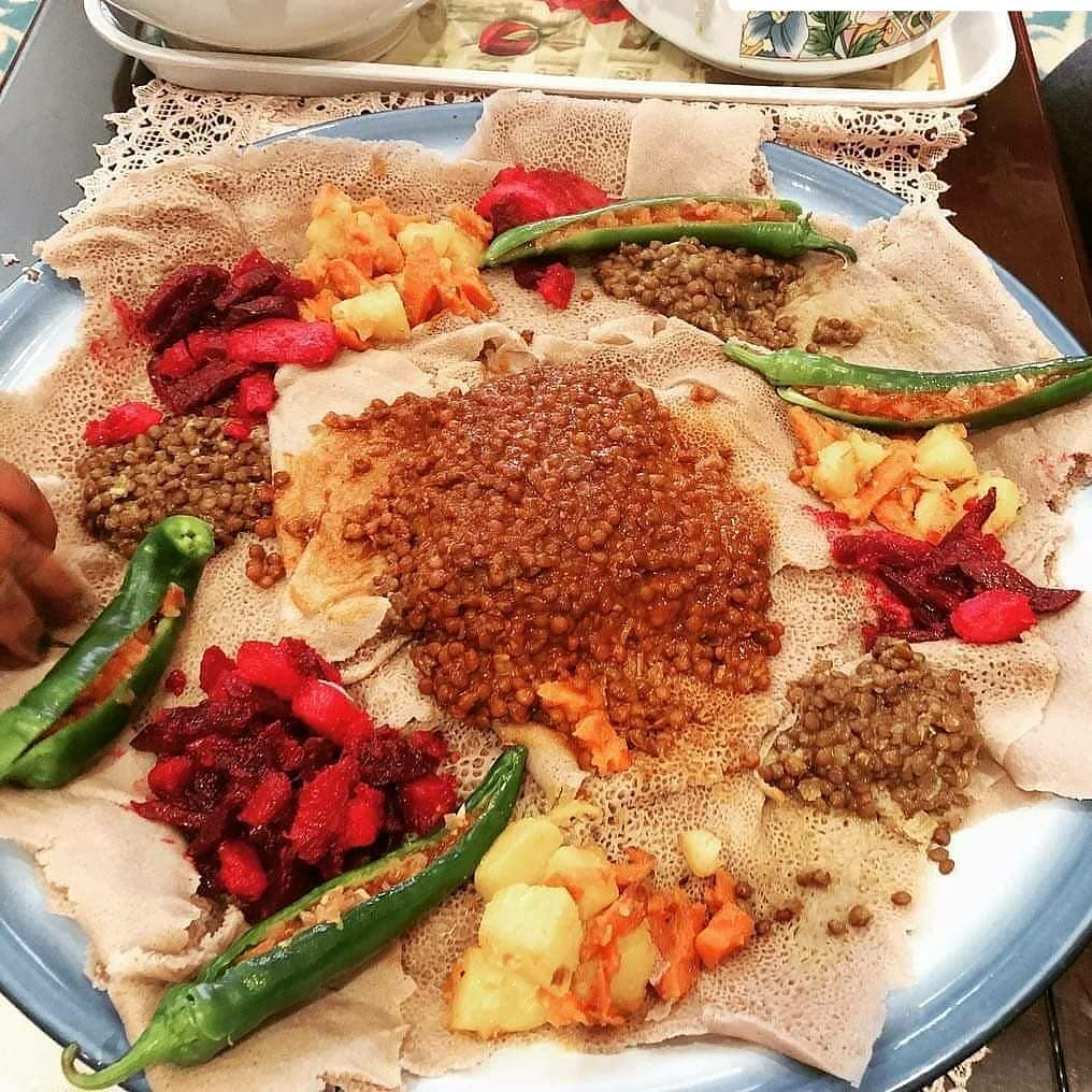 Eritrean food: Injera