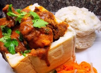 how to make Mutton Bunny Chow recipe
