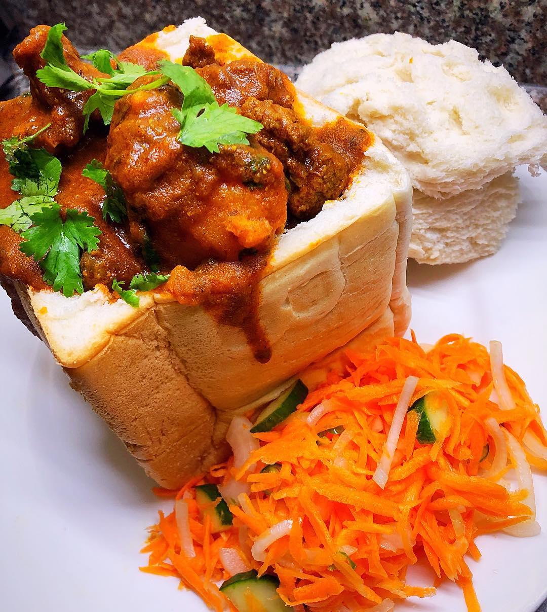 SA bunny chow recipe