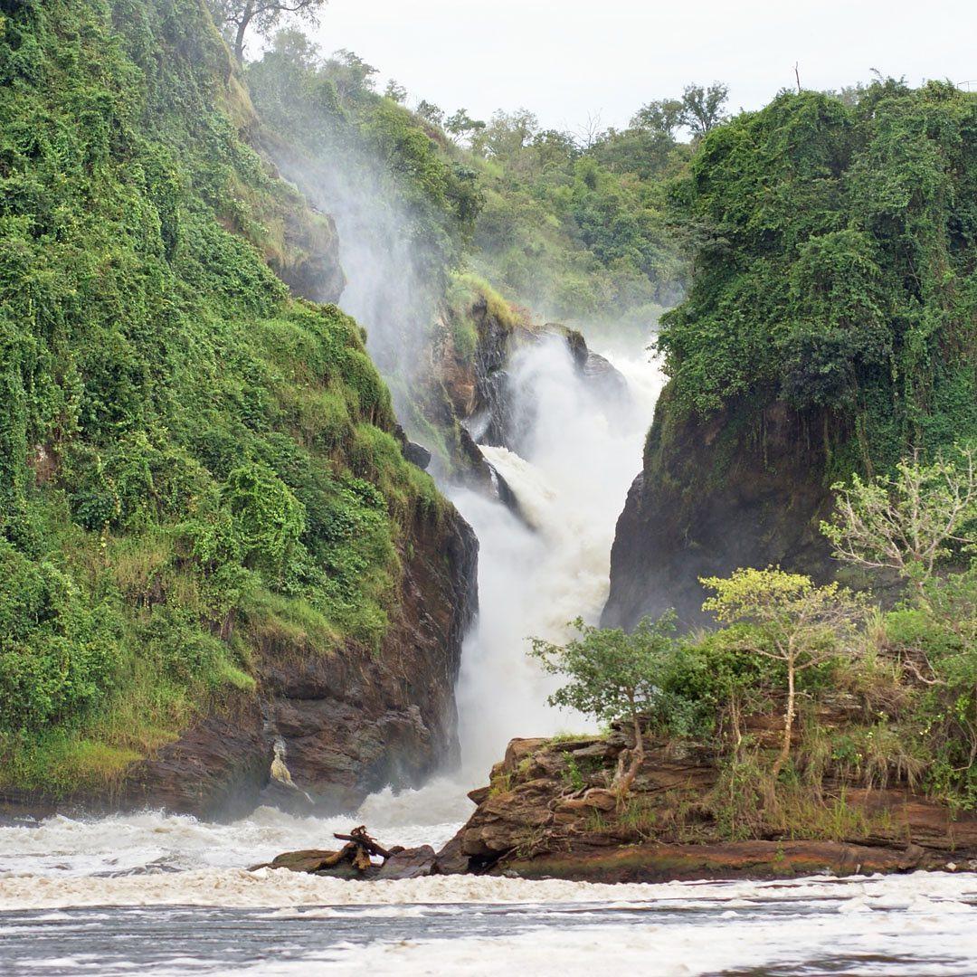 Uganda famous waterfall