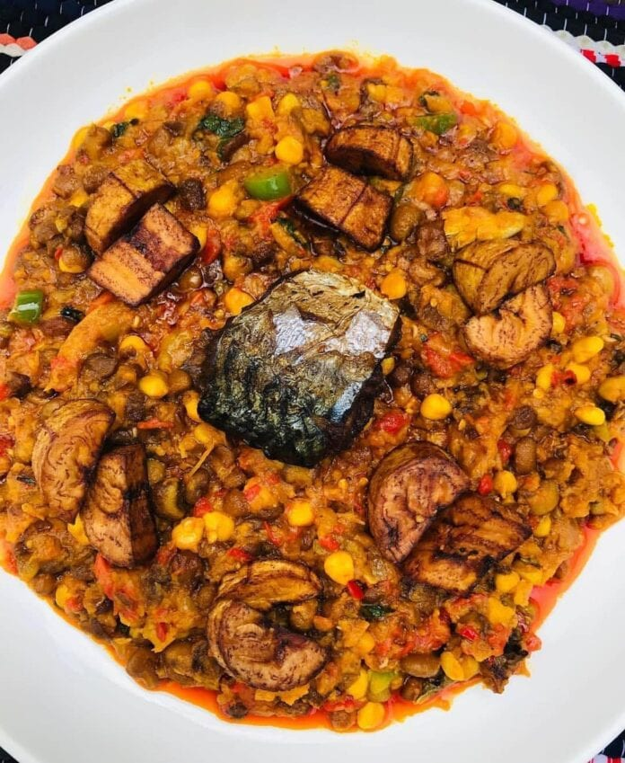 Nigerian beans and corn