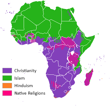 different religions in africa