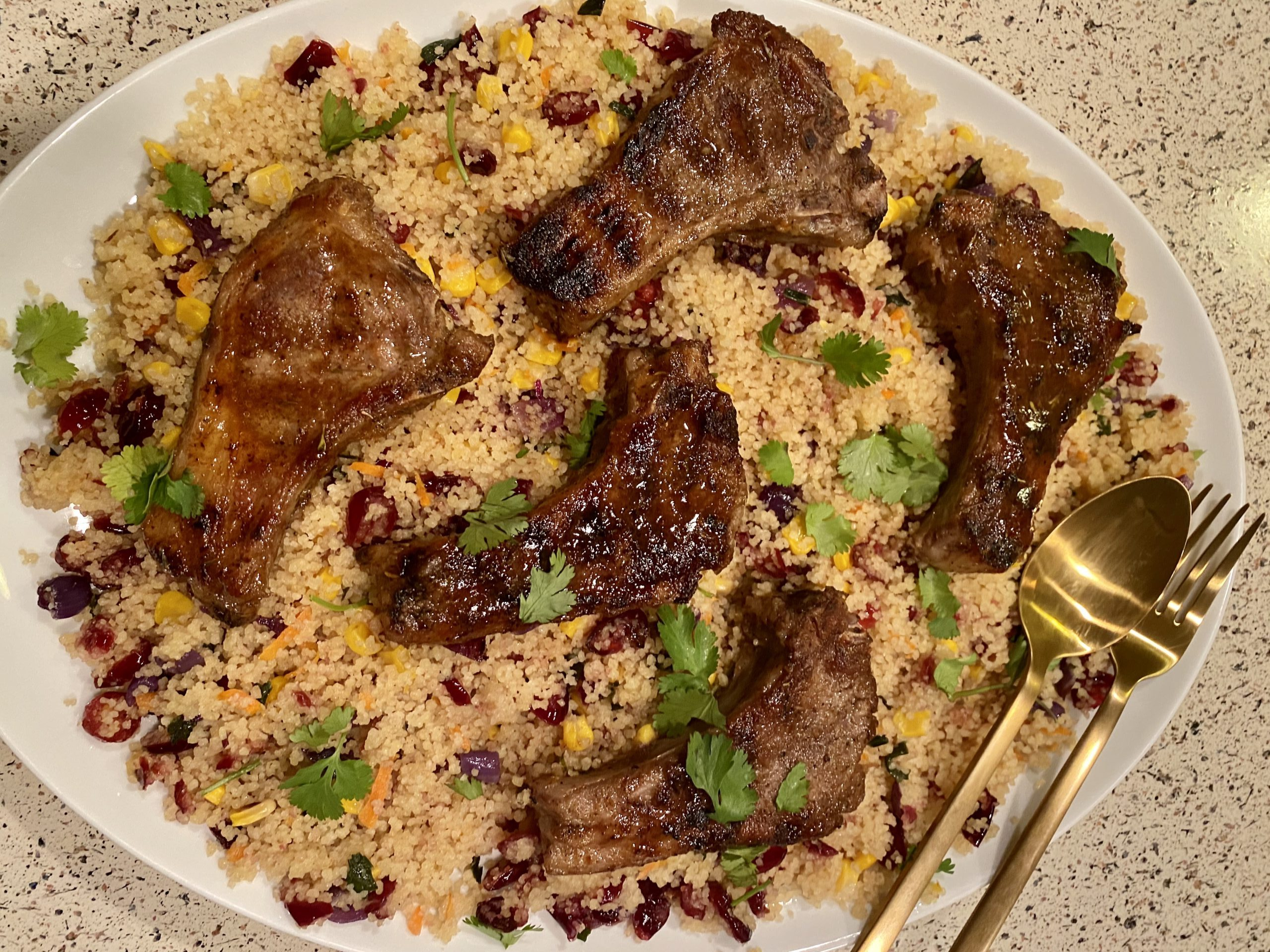 lamb chops and couscous