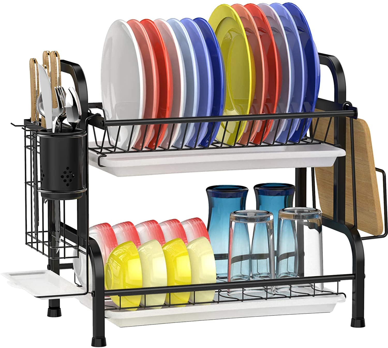 GSlife Stainless Steel 2 Tier Dish Rack