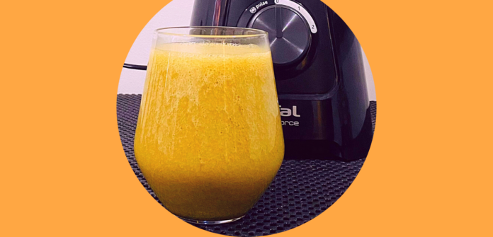 Carrot Ginger Mint Immune Boosting Smoothie