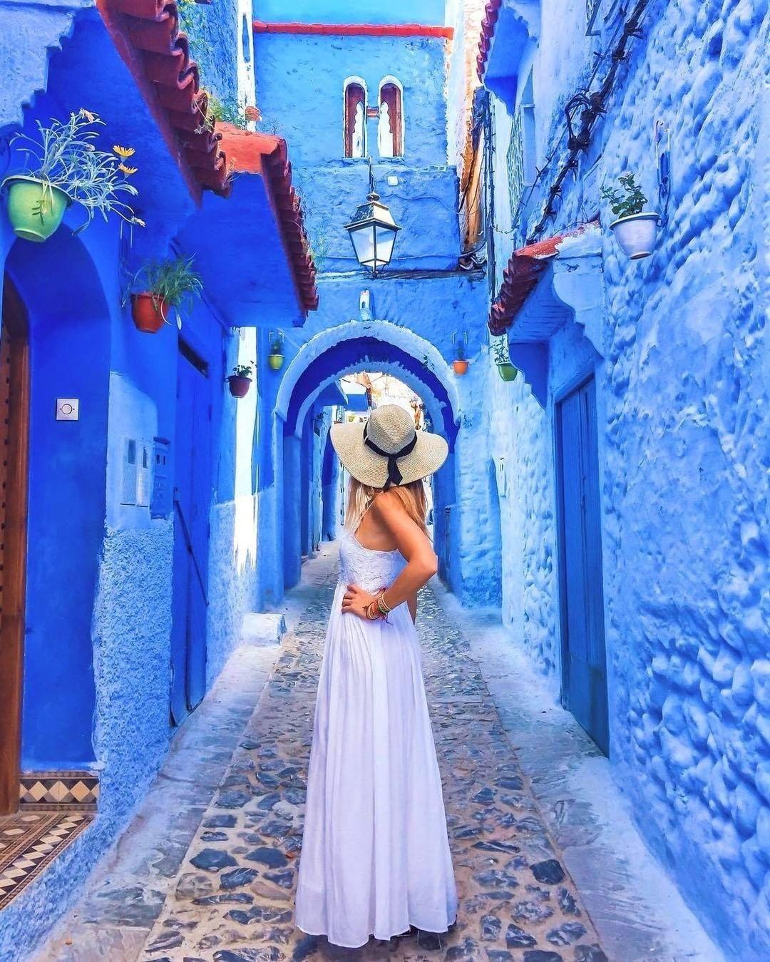 Morocco blue city Chefchaouen
