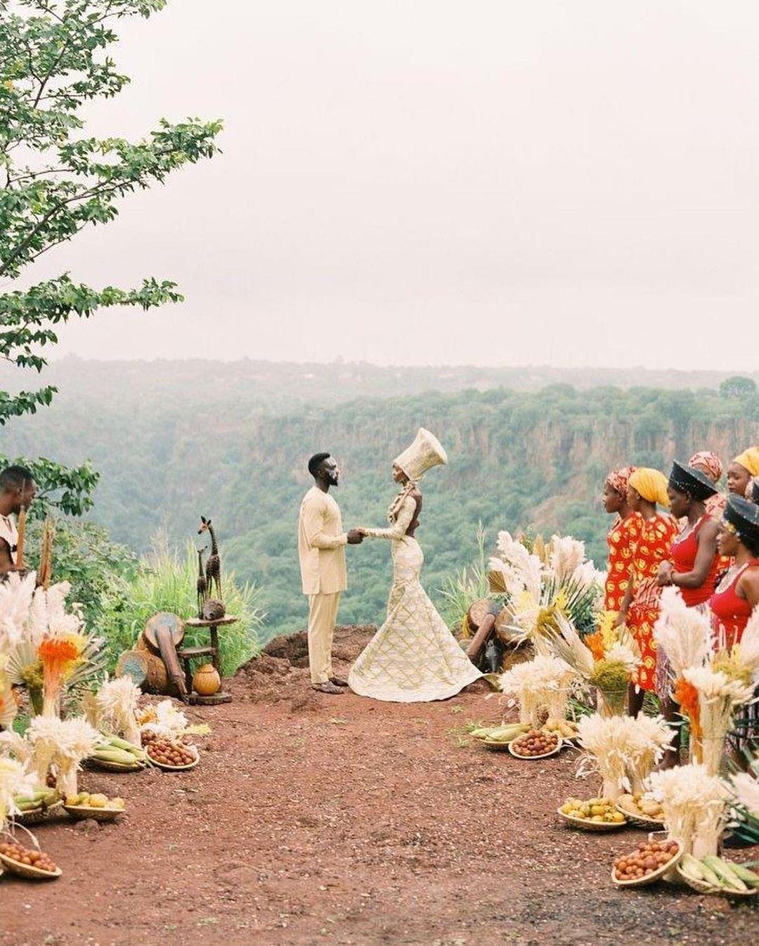 Zambian wedding outfit