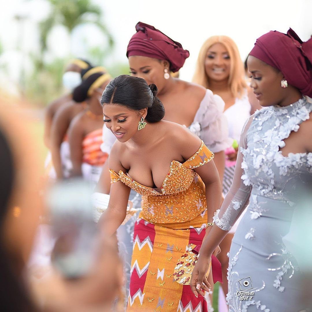 Ghanaian traditional wedding outfit