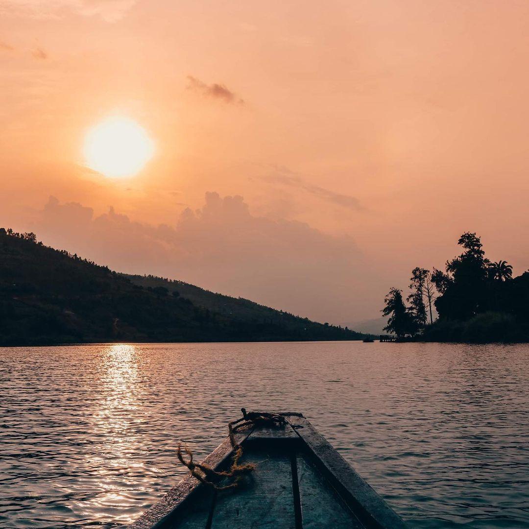 fishing at Lake Muhazi