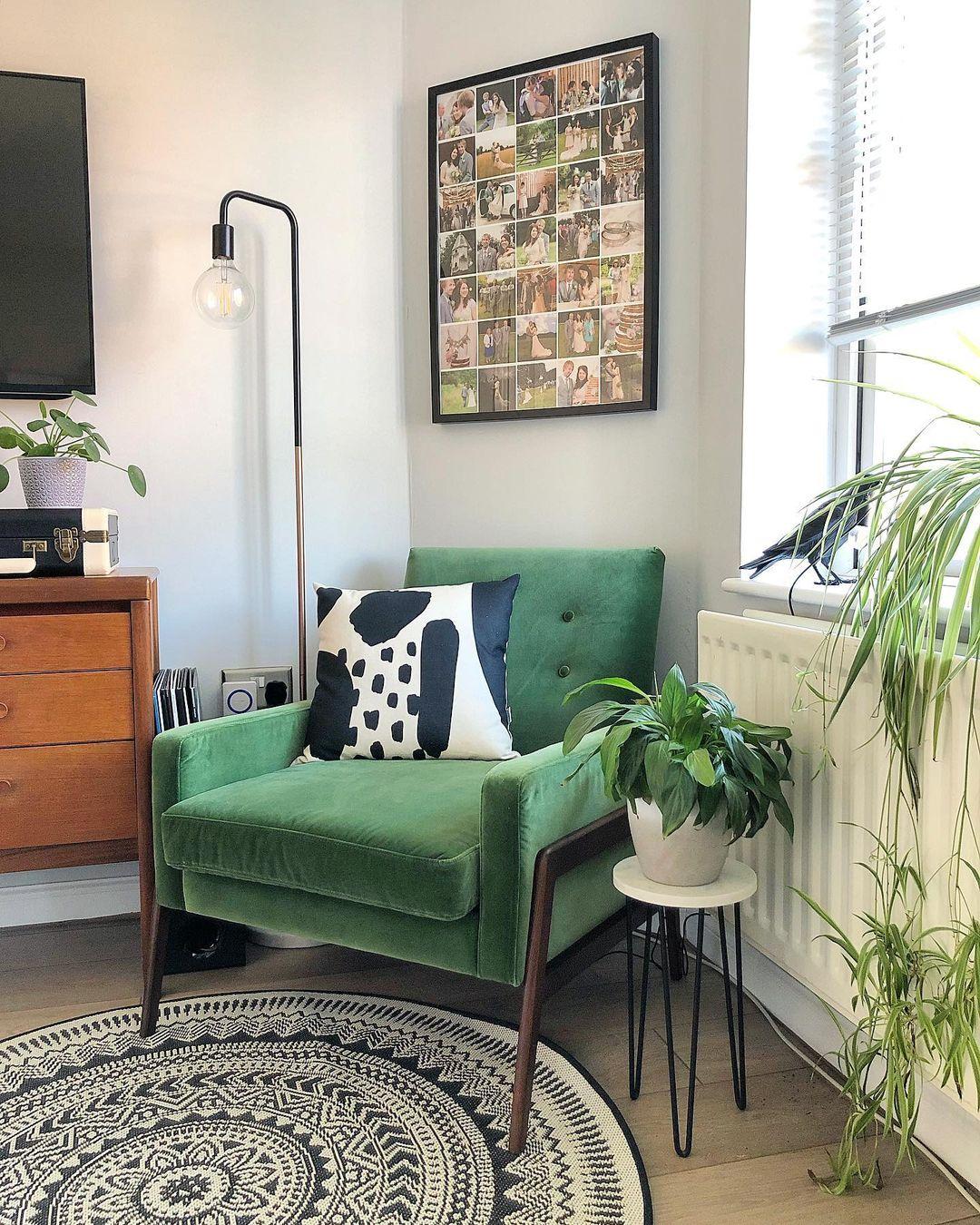 midcentury family room decor