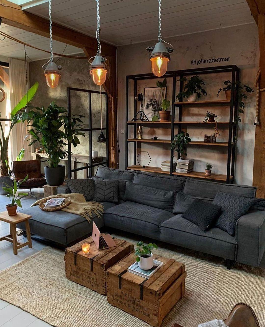 aesthetic Rustic living room