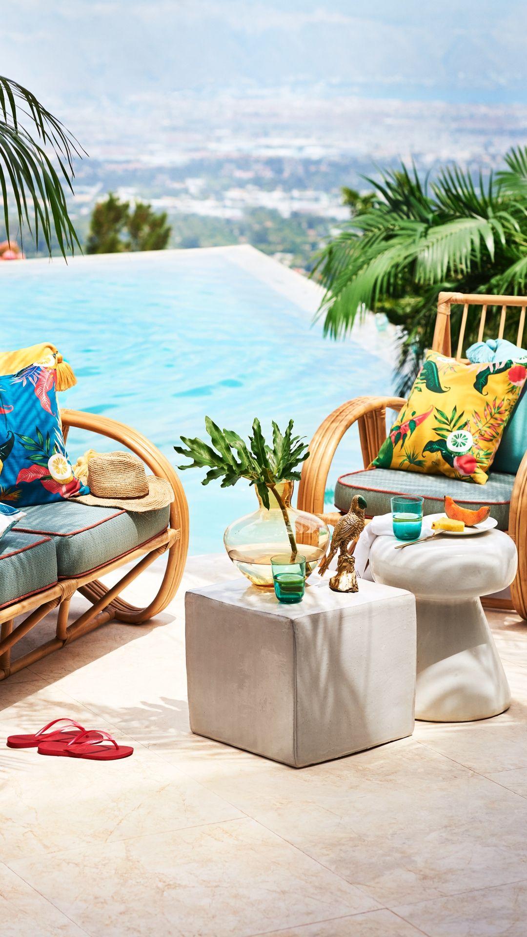Tropical living room aesthetics