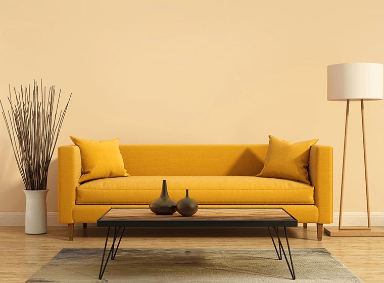 living room welcoming hues
