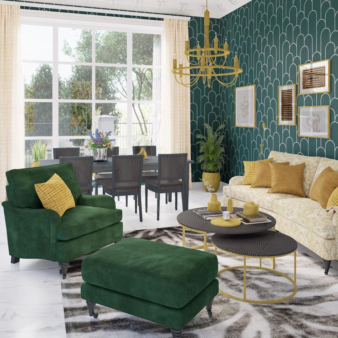 green colour scheme decor