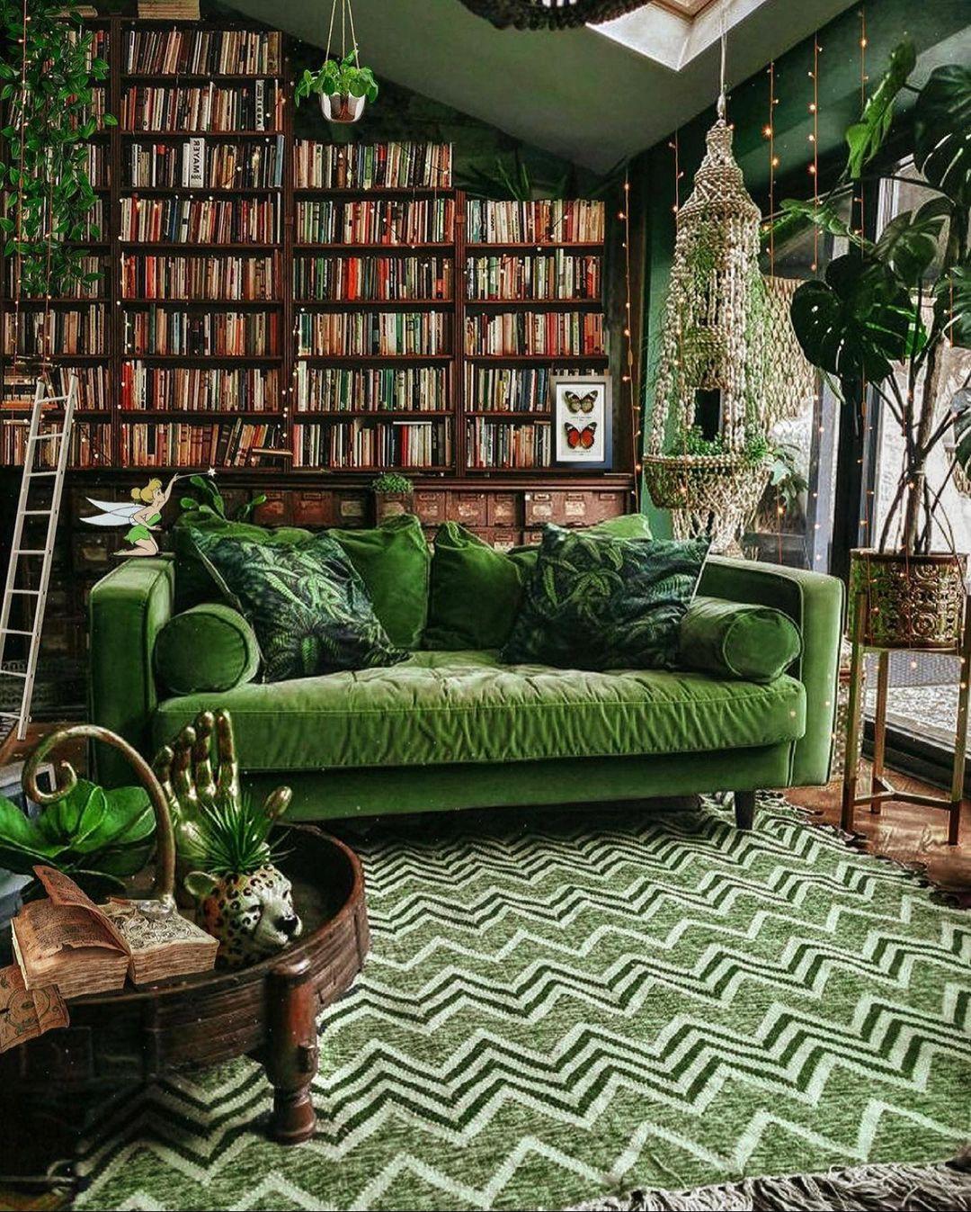 green scheme for small living room decor ideas