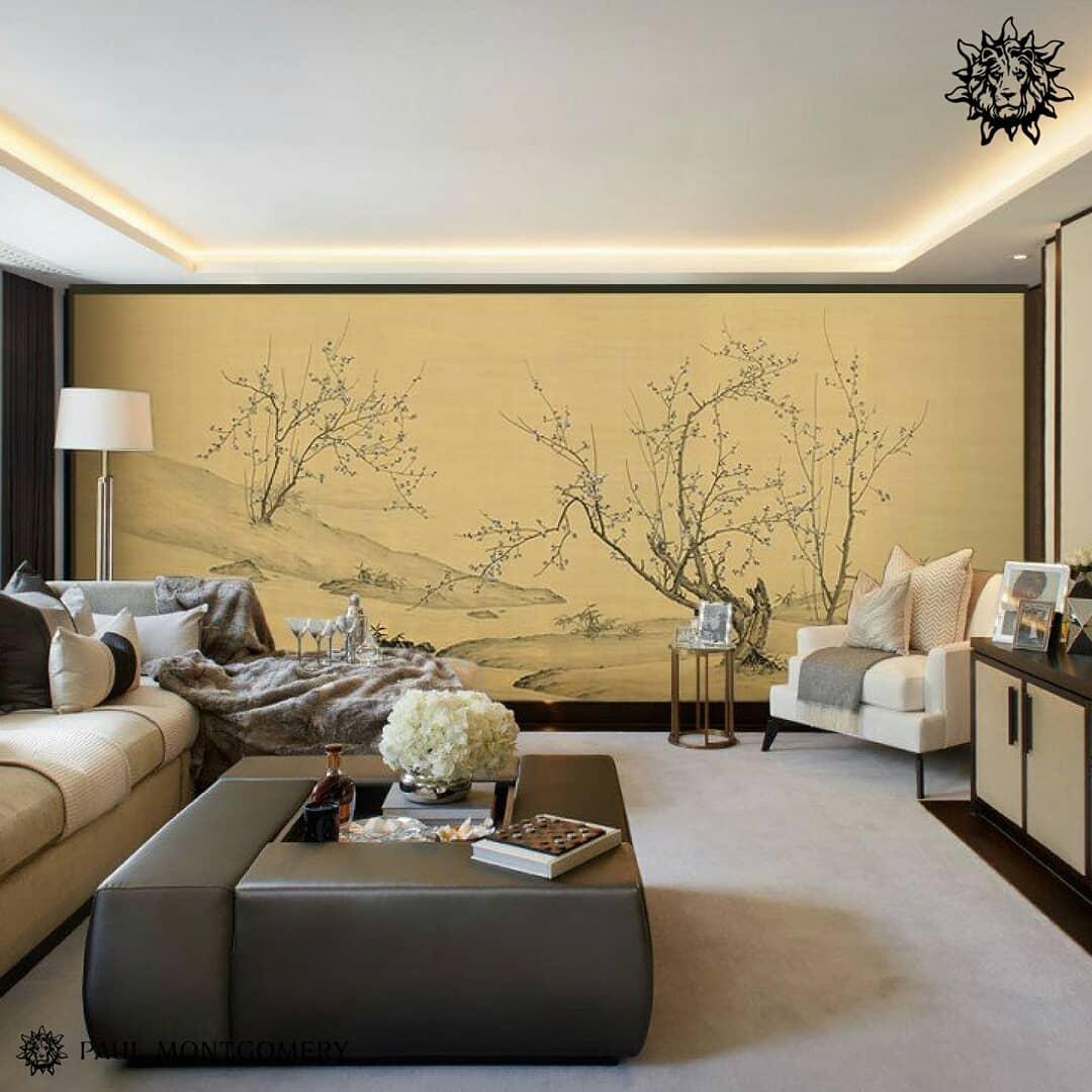 Japanese inspired living room decor