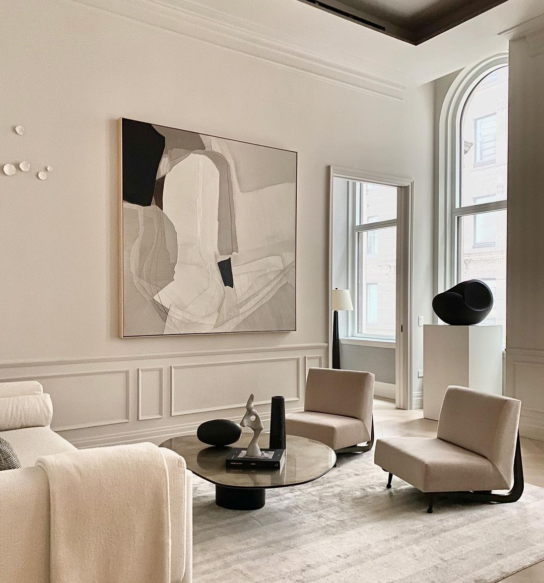 aesthetic monochrome home decors