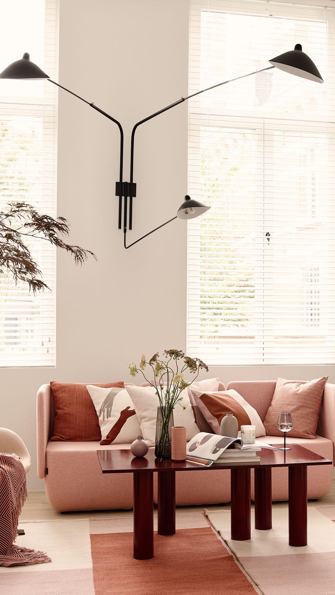 pink small living room decor ideas