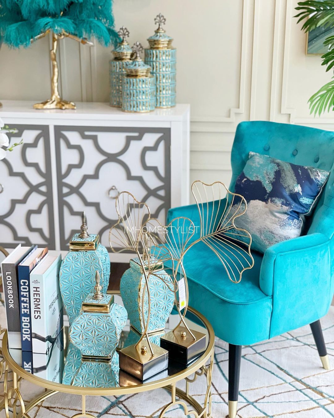 turquoise home decor